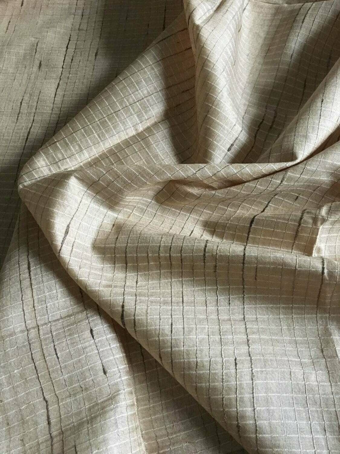 Wild Silk Fabric / Tussar Silk Fabric