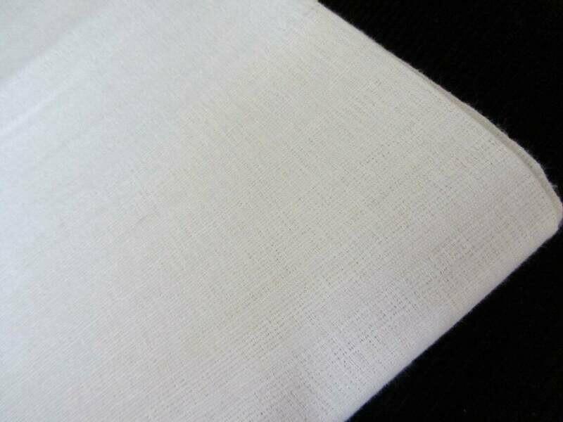 White Matka Handloom Natural Silk Fabric