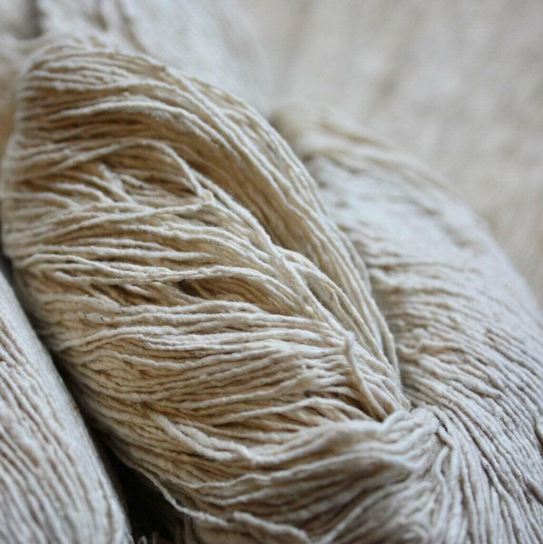 Handmade Mulberry Noil Silk Yarn