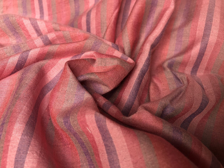 Silk With  Cotton Stripe Fabric