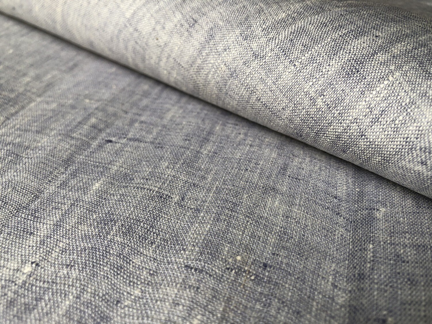 Hand Woven Linen With Muslin Cotton Fabric