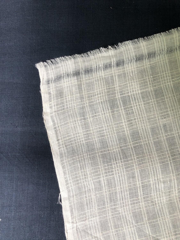 Hand Spun Hand Woven 200 Count Muslin Cotton Design  Fabric