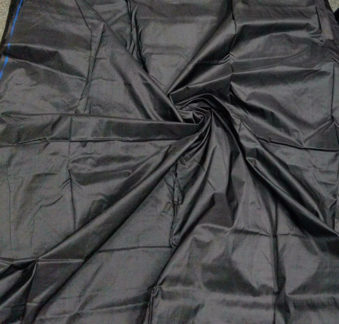 Black Mulberry Silk Fabric/100% Pure Silk Fabric, Plain silk fabric made with Hand Woven