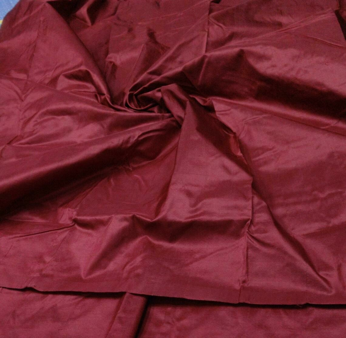Snuff Mulberry Silk Fabric/100% pure silk fabric/plain silk fabric made with Hand woven