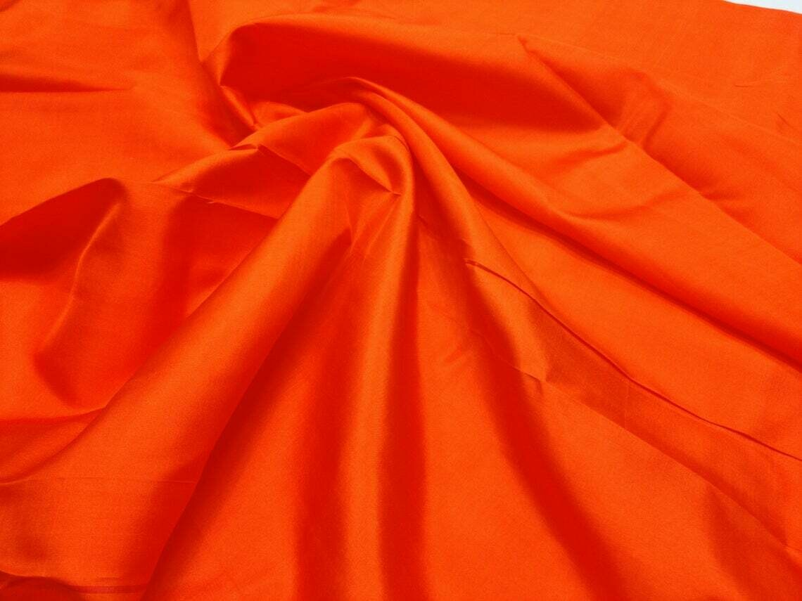 Strong Red Mulberry Silk Fabric/100% Pure Silk Fabric, plain silk fabric made with hand Woven,