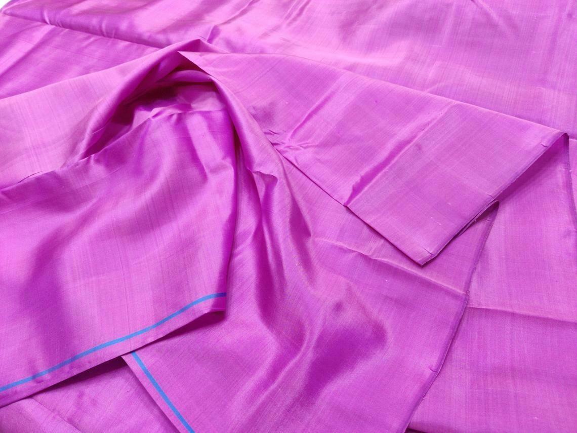 Purple Mulberry Silk Fabric/100% pure silk fabric, plain silk fabric made with hand Woven