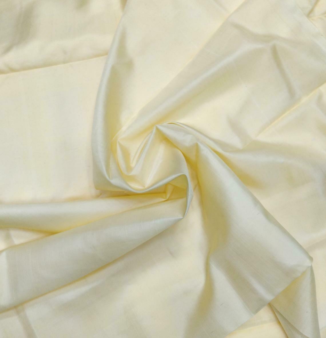 Cream Mulberry Silk Fabric/100% Pure Silk Fabric/plain silk fabric made with handloom