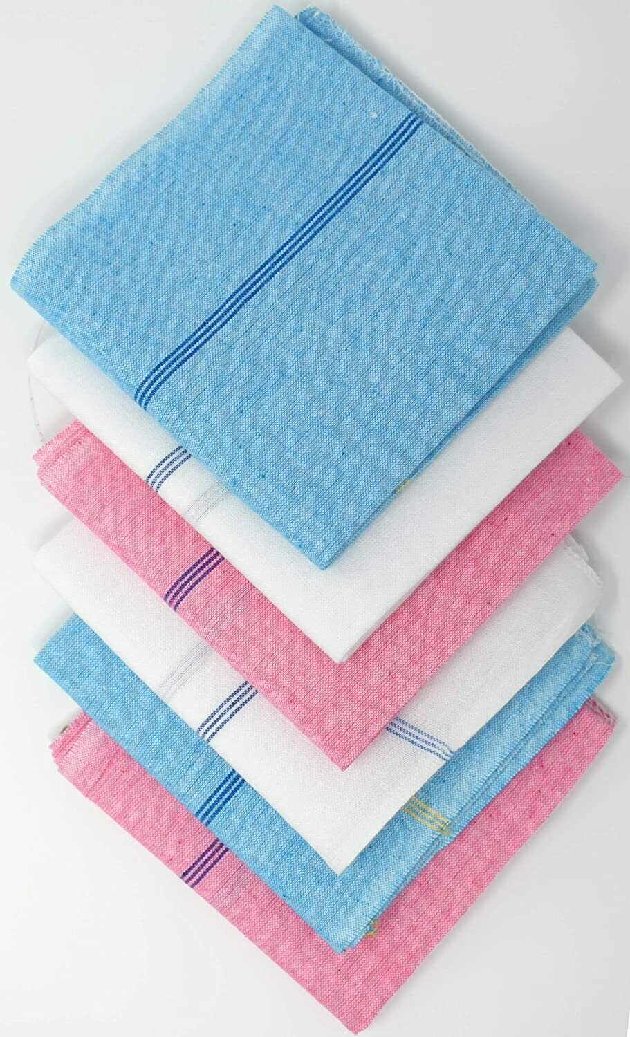 Cotton Handkerchiefs Hand-loom Handkerchiefs made with 100% Cotton - Superior Quality