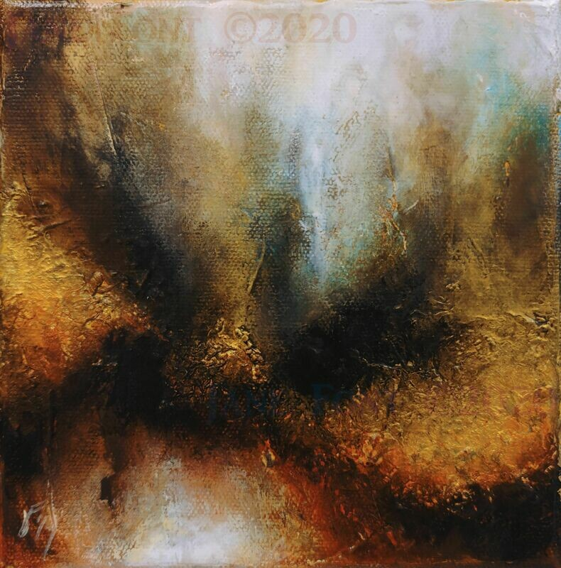 Dust - Original Abstract by Jane Font