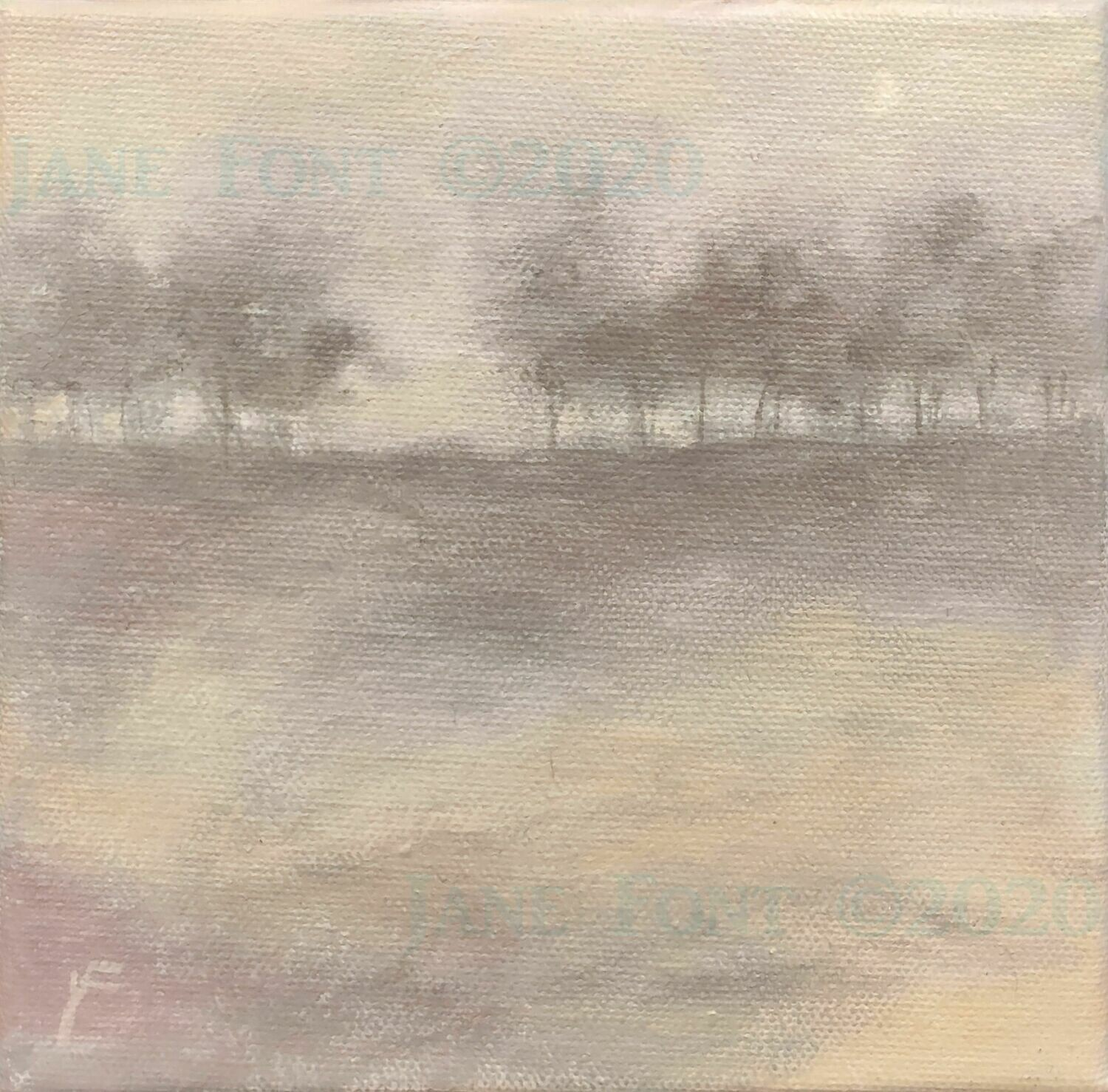 Early Song 2 - Original Acrylic Landscape by Jane Font