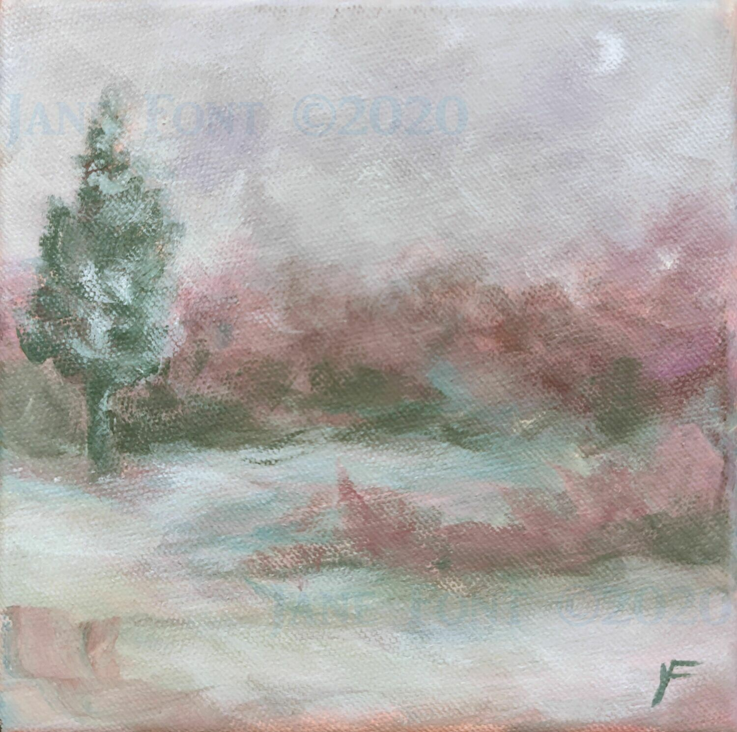 Early Song 1 - Original Acrylic Landscape by Jane Font