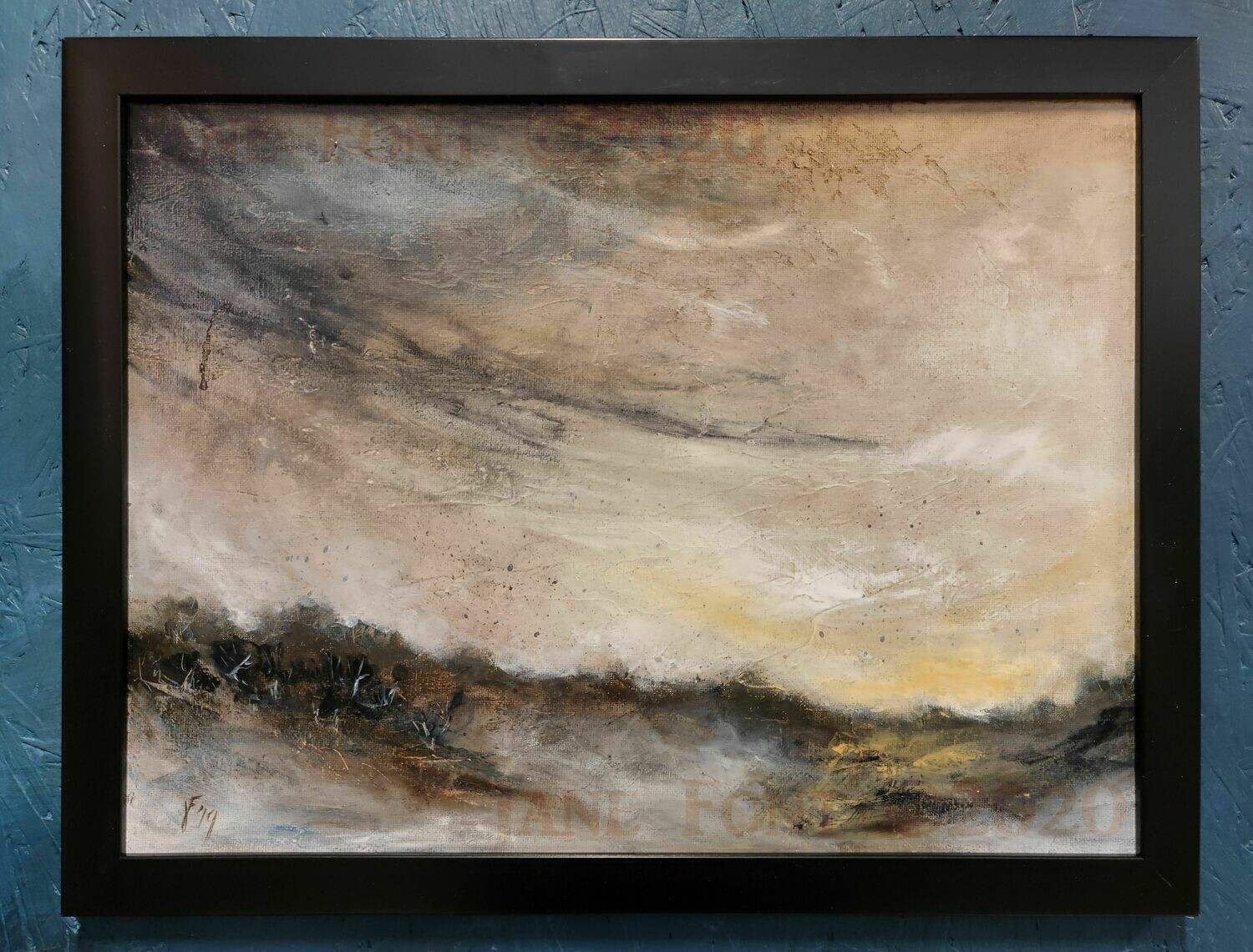 Wasted - Original Finger Painted Landscape by Jane Font