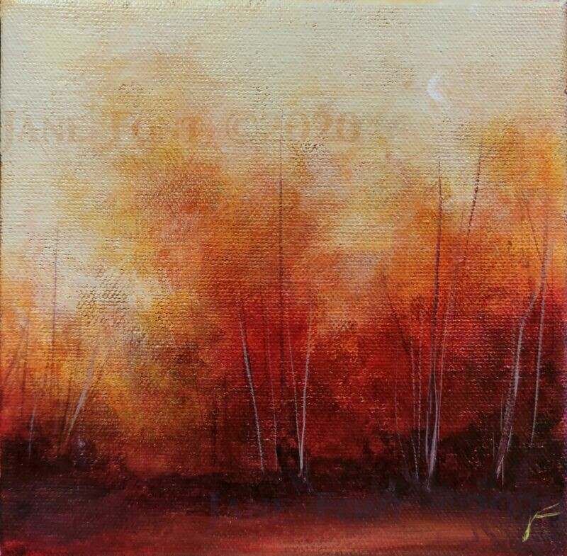 Rare - Original Finger Painted Landscape by Jane Font