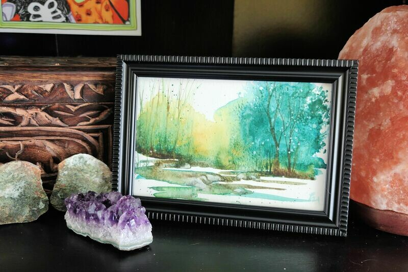 #59 Watercolor Landscape by Jane Font