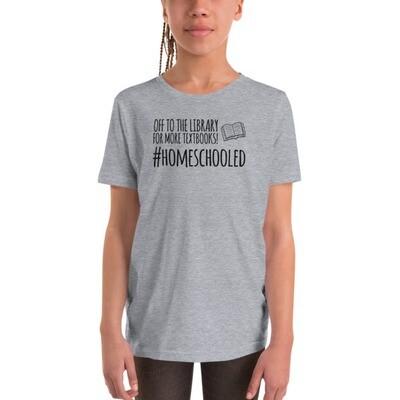 More Textbooks Youth Short Sleeve T-Shirt (Black Design)