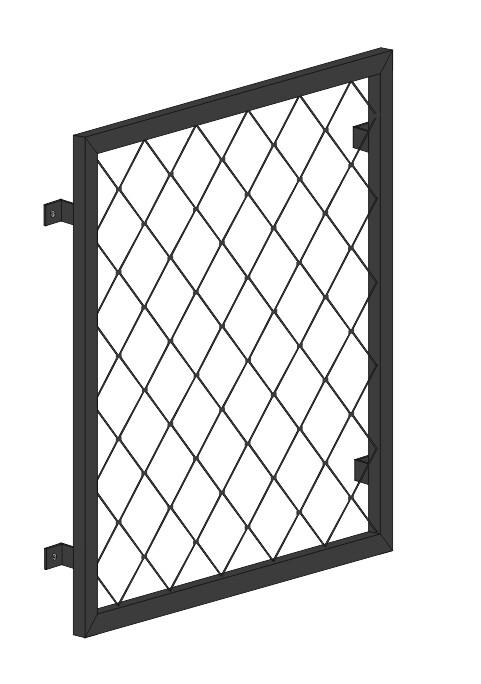 "Fenstergitter  ""Raute""  Stahl verzinkt wahlweise beschichtet"