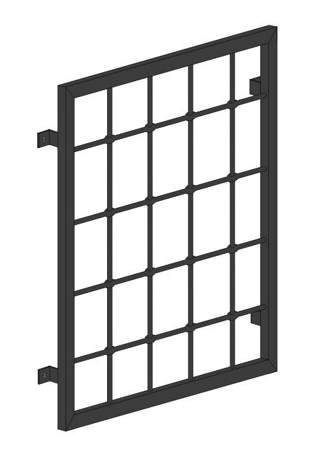 """Fenstergitter  """"Rundstab""""  Stahl verzinkt wahlweise beschichtet"""