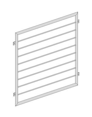 Fenstergitter  Querstab V2A