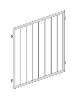 Fenstergitter  Vertikalstab 1 V2A