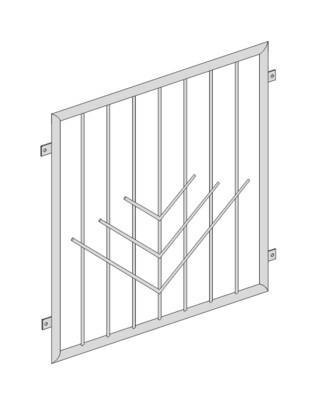 Fenstergitter  V-Stab 1 V2A