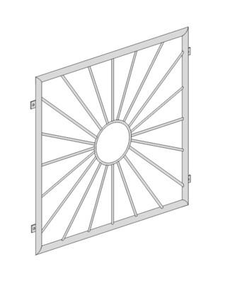 Fenstergitter  Sonne Kreis  V2A