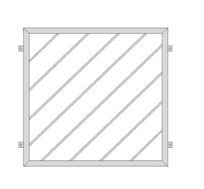 Fenstergitter  Diagonalstab 1  V2A