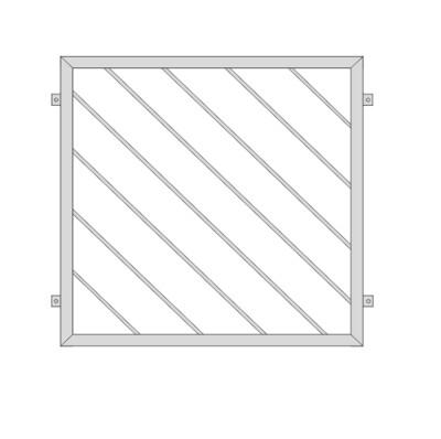 Fenstergitter  Diagonalstab 2  V2A