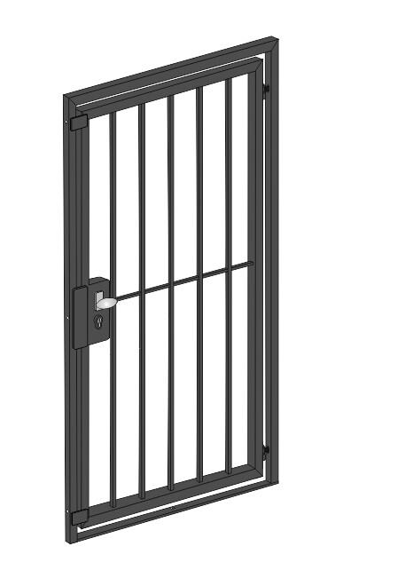 "Gittertür  ""Vertikalstab""  Stahl verzinkt wahlweise beschichtet"