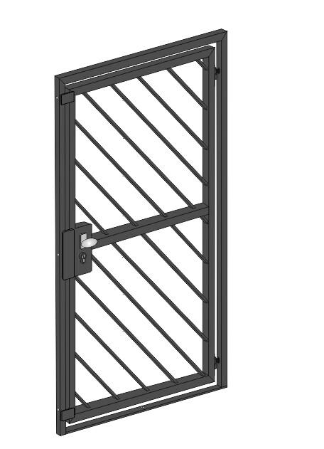 """Gittertür  """"Diagonalstab-2""""  Stahl verzinkt wahlweise beschichtet"""