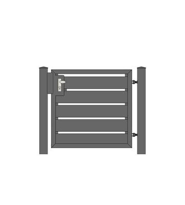 Sichtschutz Tür 1-flg. ALU-Füllung in RAL Rahmen Stahl verzinkt