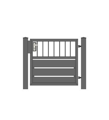 Sichtschutz  Stab-1 Tür 1-flg. ALU-Füllung in RAL Rahmen Stahl verzinkt