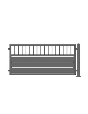 Sichtschutz Stab-1 Zaun ALU-Füllung in RAL Rahmen Stahl verzinkt