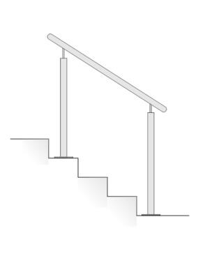 V2A Treppenhandlauf Stift-1