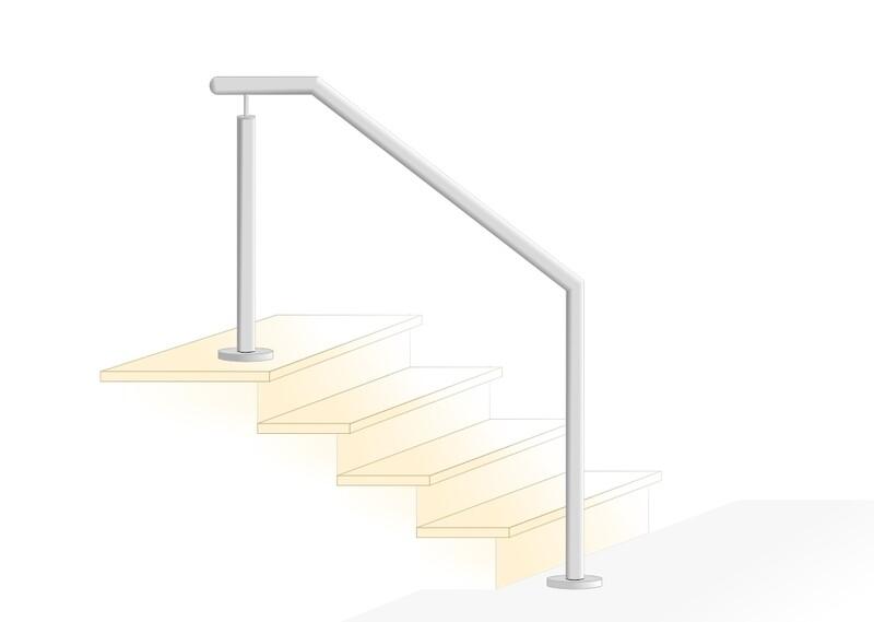 "Treppenhandlauf ""Kompakt-2"" V2A Edelstahl"