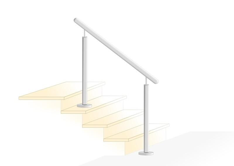"Treppenhandlauf V2A Edelstahl ""Stift-1"" gerade"