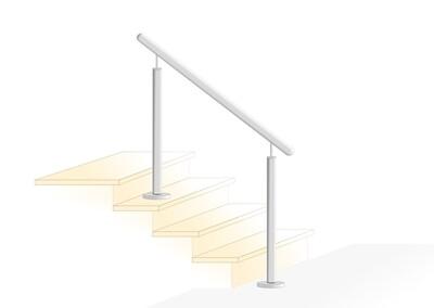 Treppenhandlauf V2A Edelstahl