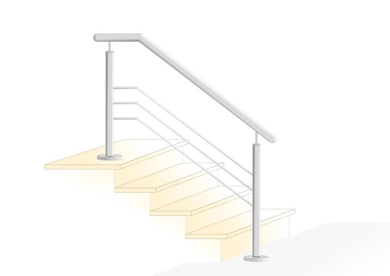 """Treppengeländer """"Querstab Stift-2"""" V2A Edelstahl"""