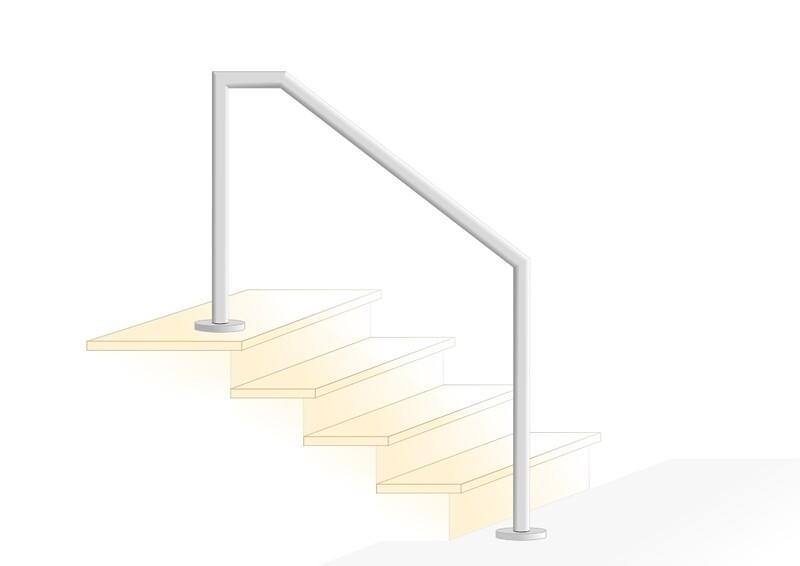 "Treppenhandlauf ""Kompakt-1"" V2A Edelstahl"