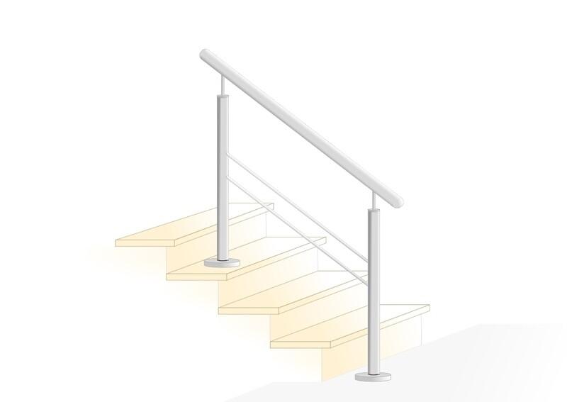 """Treppengeländer """"Querstab Stift-1"""" V2A Edelstahl"""
