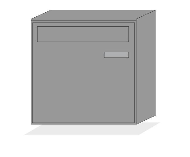 Briefkasten Modell FD1 Stahl verzinkt pulverbeschichtet