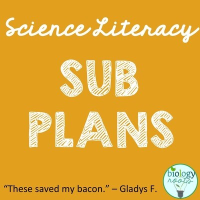 Science Literacy Sub Plans Bundle- supports digital