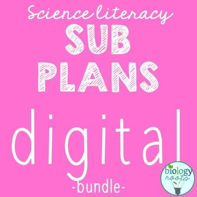 DIGITAL Sub Plans Bundle- bundle of 9