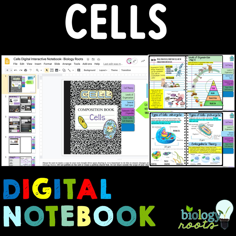 Cells Digital Interactive Science Notebook