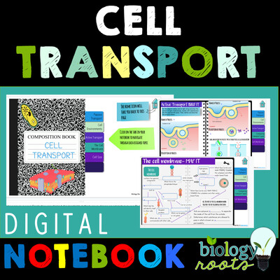 Cell Transport Digital Interactive Science Notebook