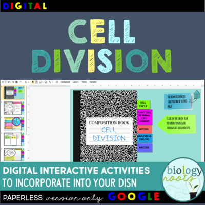 Cell Division Digital Interactive Activities
