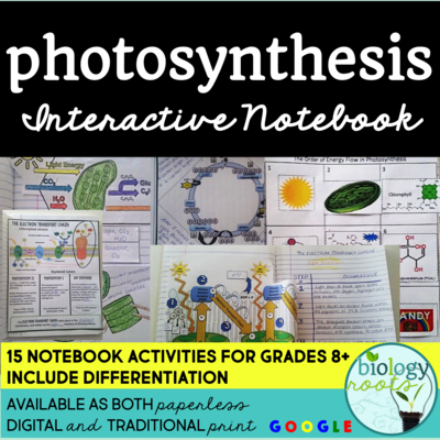 Photosynthesis Interactive Notebook- supports digital