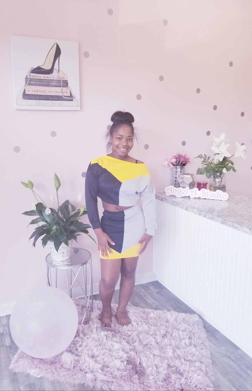 Yellow\Black Two Piece