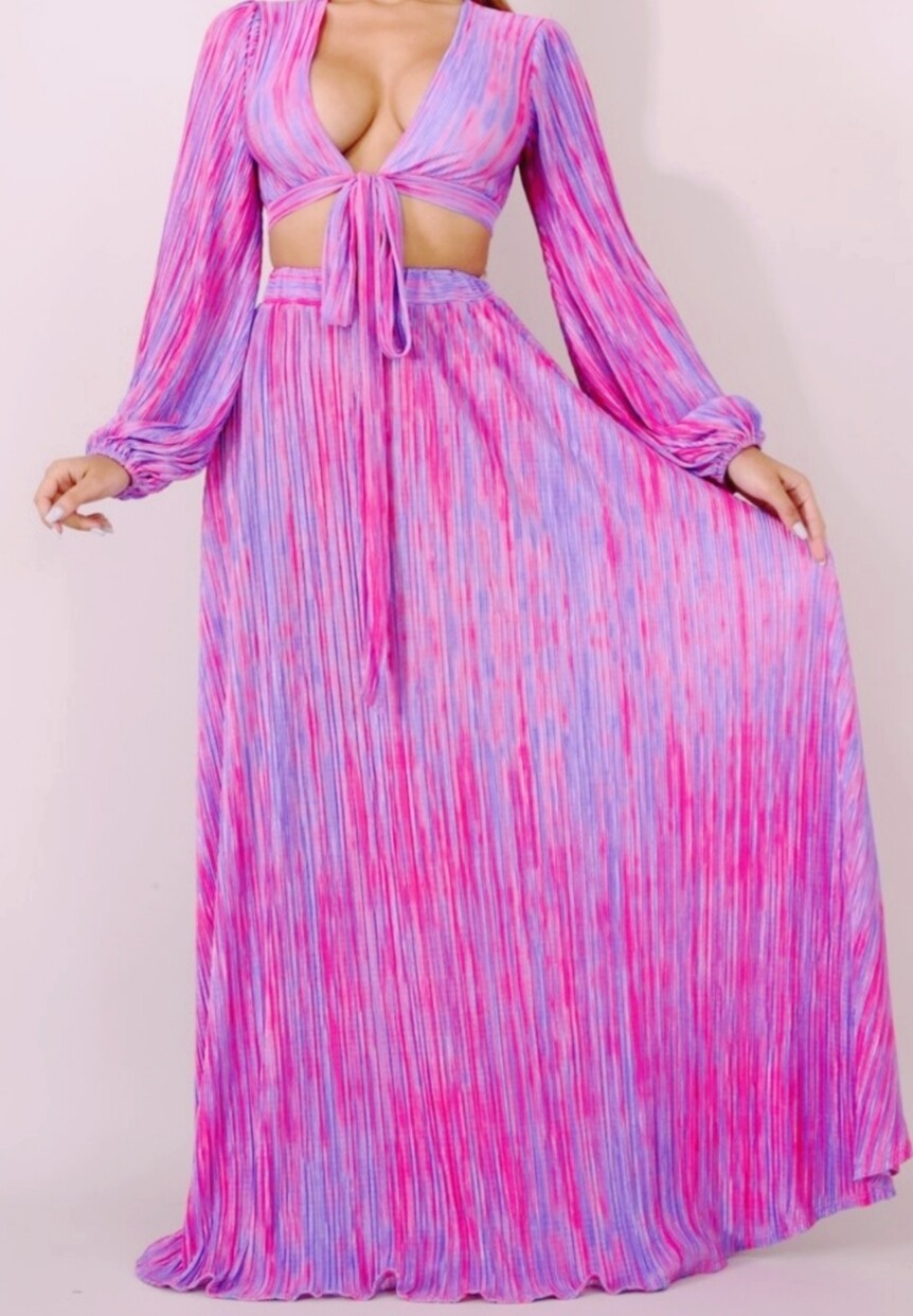 Pink And Purple Maxi