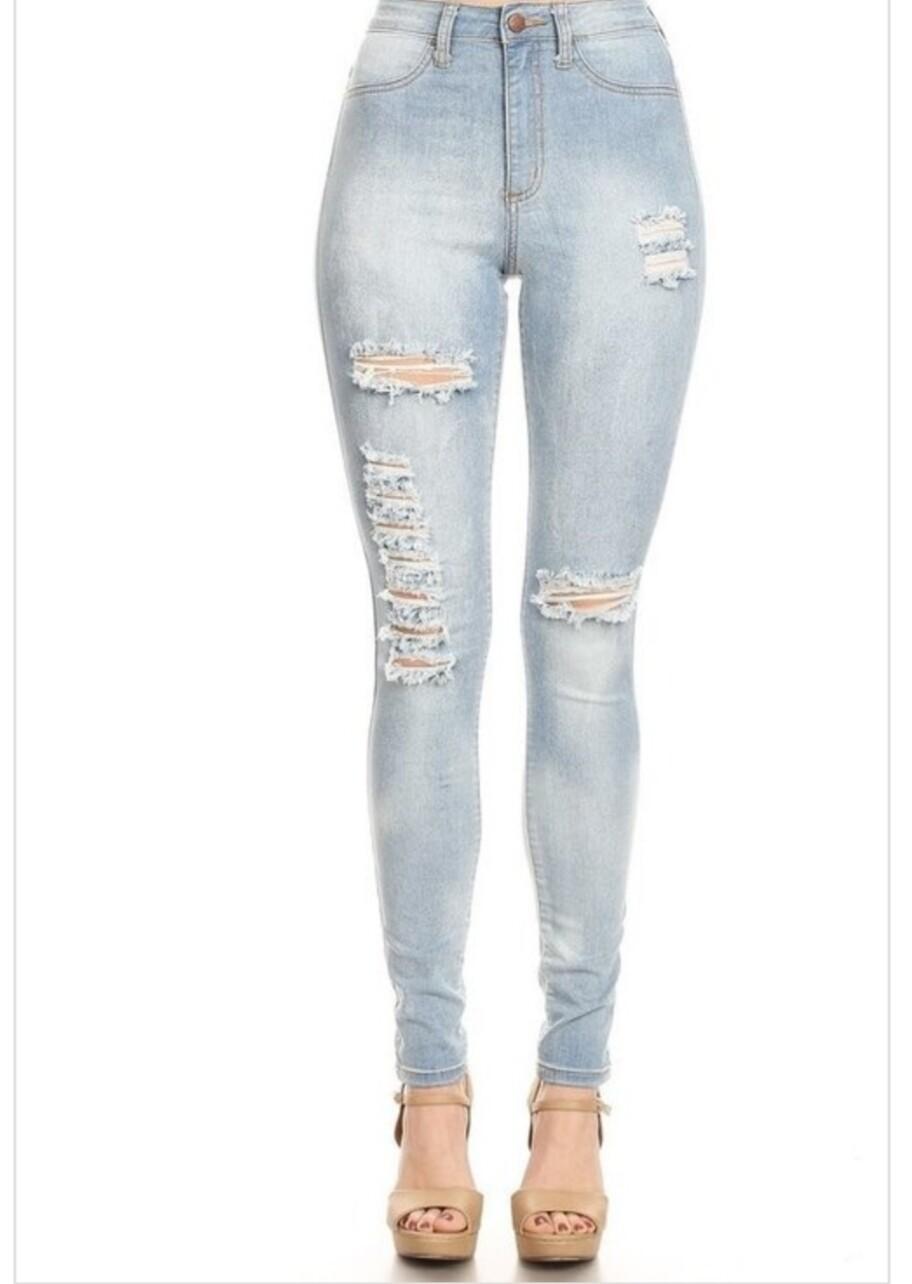 Light Blue High Rise Jeans