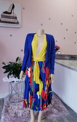 Print Pleat Skirt